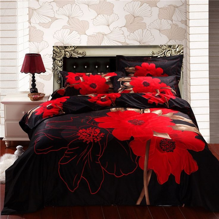 quilt red queen winter bohemia boho cover warm king duvet sets wedding pin size bedding