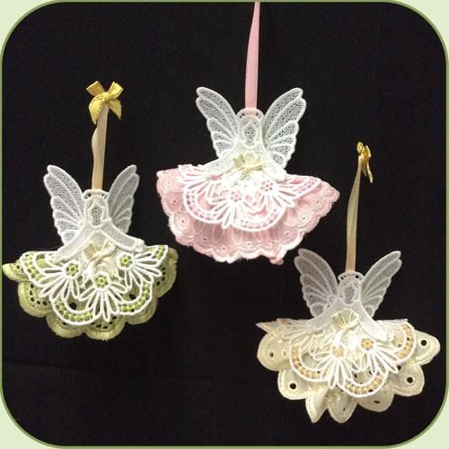 3d Fsl Angels Free Standing Lace Machine Embroidery: FSL