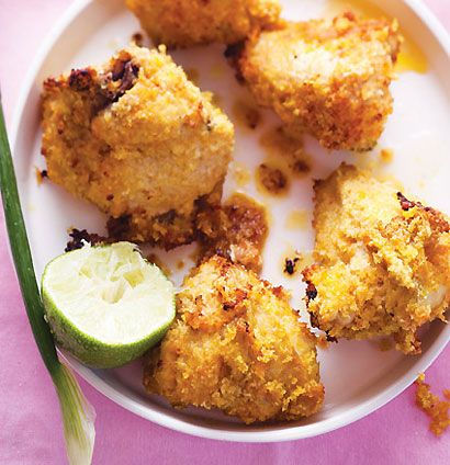 Coconut-crusted chicken