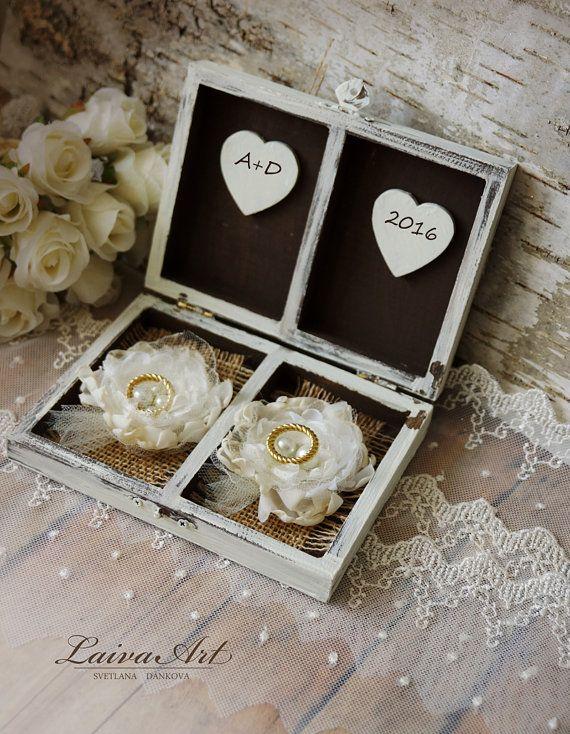Bague de mariage au porteur oreiller anneau de mariage par LaivaArt
