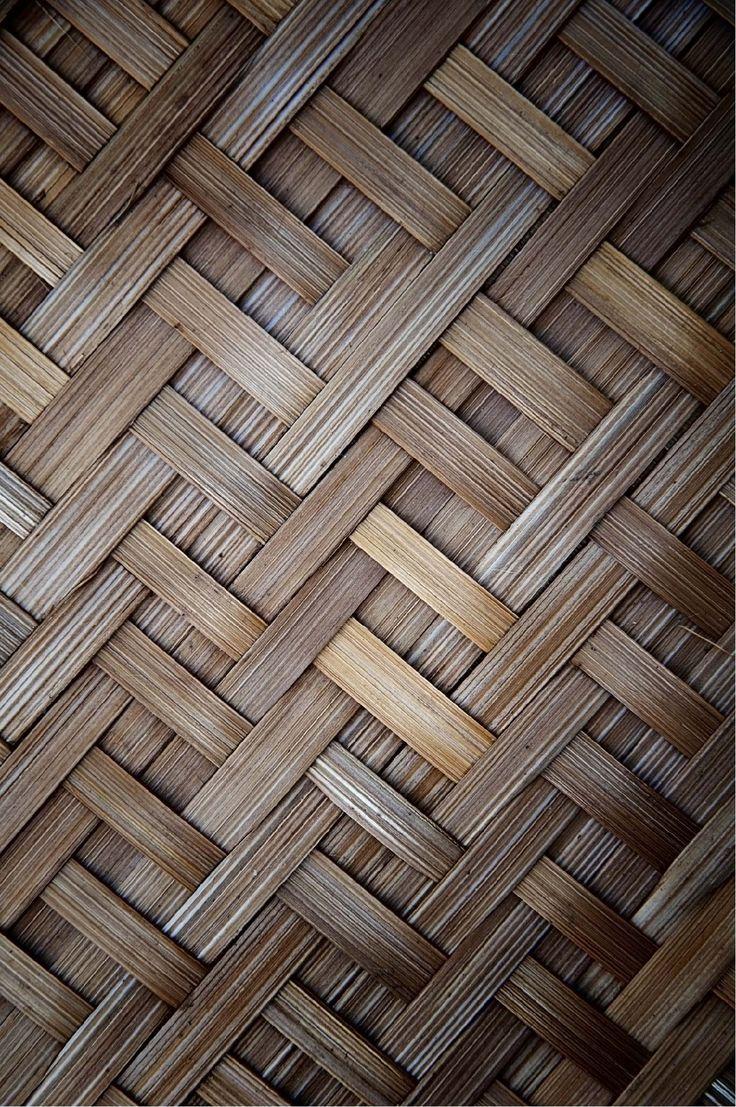 Papel mural tejido de bambú