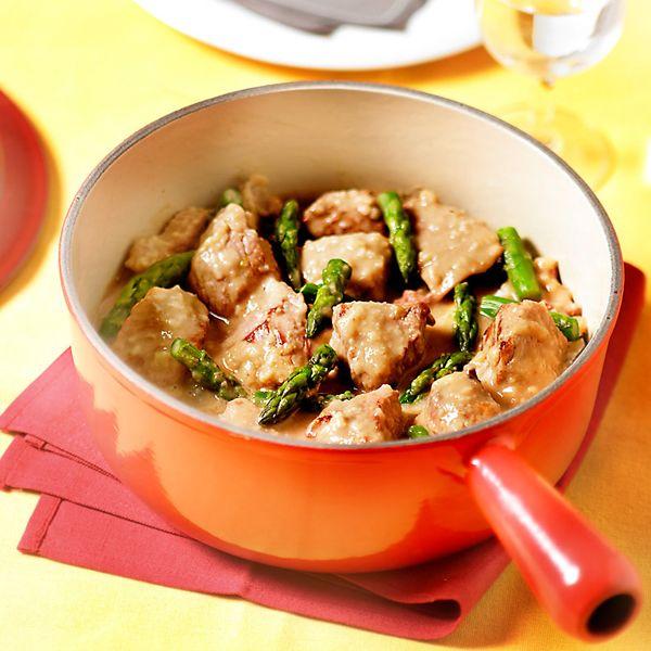 WeightWatchers.fr : recette Weight Watchers - Blanquette de veau aux asperges