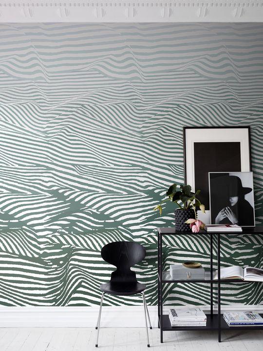Djurgården green by sandberg wallpaper