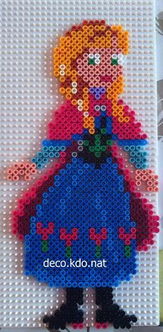 Princess Anna - Frozen hama perler beads by Deco.Kdo.Nat