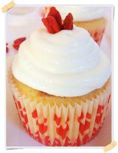 Ricetta Dukan dei cupcake alle bacche di Goji (crociera) - http://www.lamiadietadukan.com/ricetta-dolce-dukan-cupcake-bacche-goji/  #dukan #dietadukan #ricette