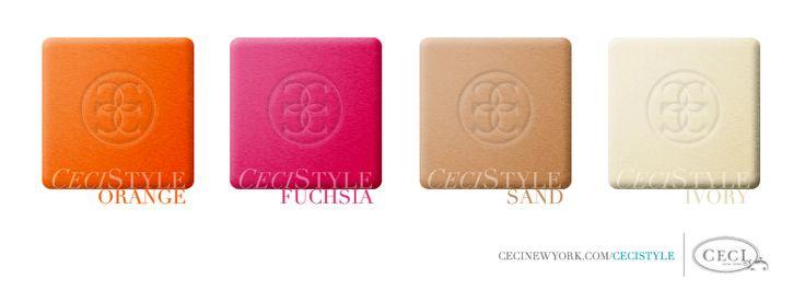 Almost our colors - except it goes: creme orange, watermelon pink, beige/tan/white/neutrals.
