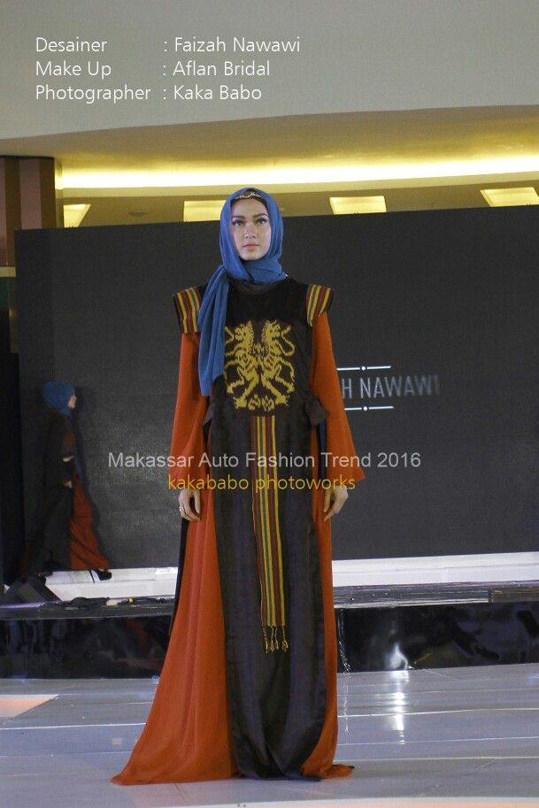Etnic style for evening party with hijab.