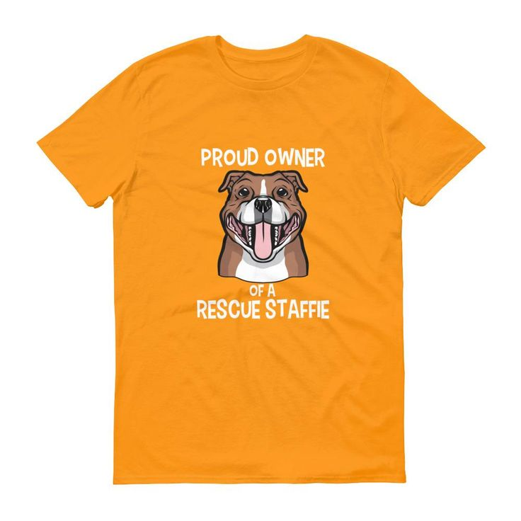 Proud Owner of a Rescue Staffie - Men's Short-Sleeve T-Shirt