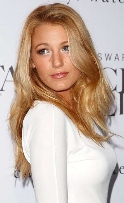 Blake Lively. Golden blonde beautiful! I hate when blonde is too white. Makes you look older and washed out. This is perfection!