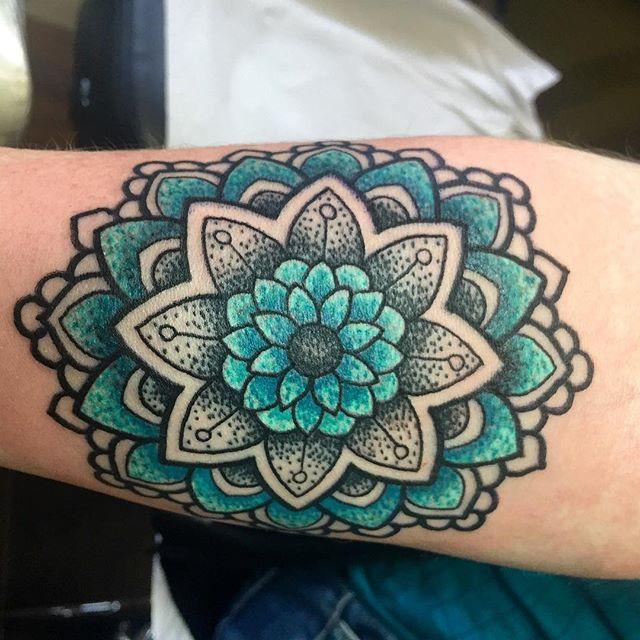 colour mandala tattoo - Google Search
