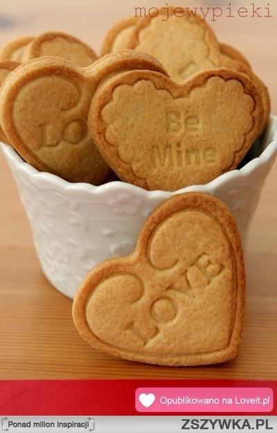 ciasteczka walentynkowe ;)
