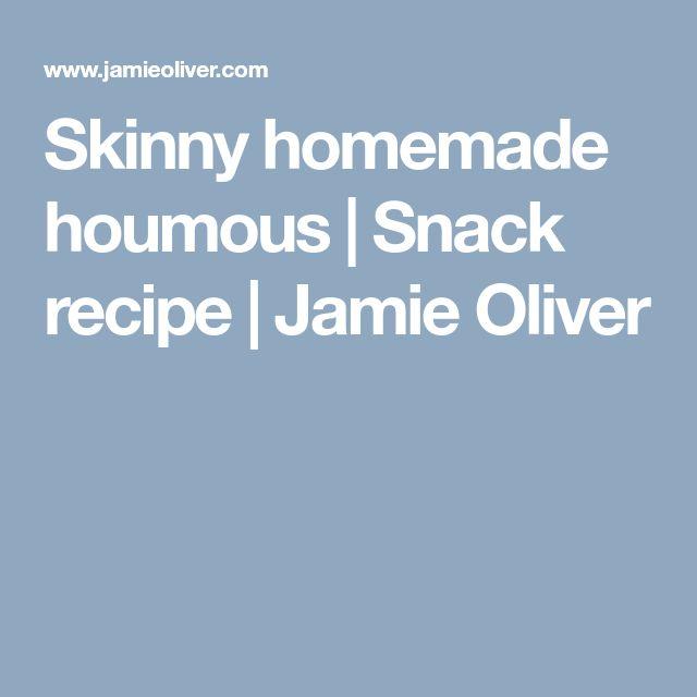 Skinny homemade houmous | Snack recipe | Jamie Oliver