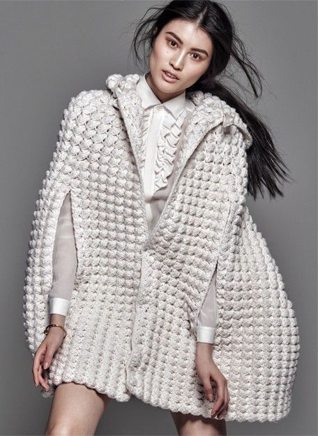 A Simple Truth - Chinese beauty Sui He wears trend of textural, neutral-coloured pieces by the likes of Calvin Klein, Maison Martin Margiela, Delpoz, & Helmut Lang