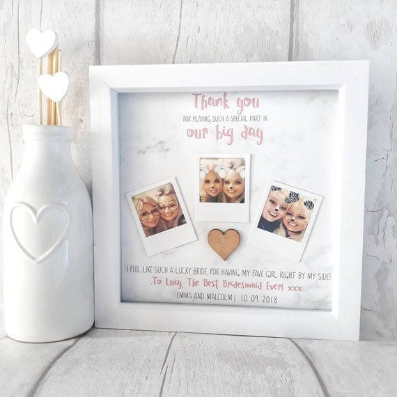 Bridesmaid Photo Frame Bridesmaid Thank You Gift Personalised