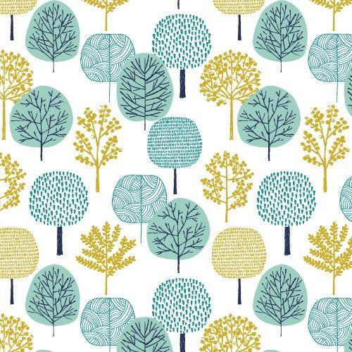 Bio-Baumwolle,+First+Light,+Bäume,+Cloud+9+von+Miniwolke+auf+DaWanda.com