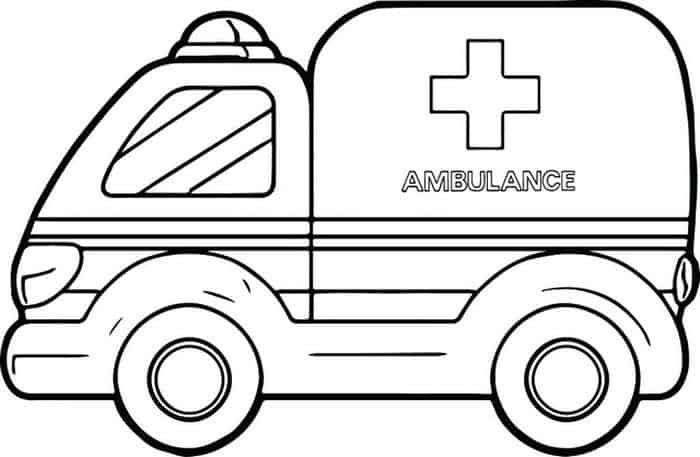 Ambulance Monster Truck Coloring Pages Truck Coloring Pages Monster Truck Coloring Pages Cross Coloring Page