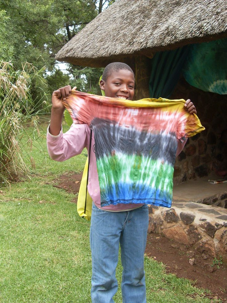 Rainbow T-shirts put smiles on faces! Info@dyeandprints.co.za