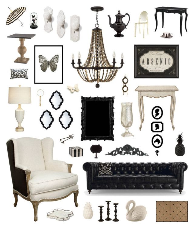 """modern victorian"" by crystalliora ❤ liked on Polyvore featuring interior, interiors, interior design, home, home decor, interior decorating, Dot & Bo, Fredrick Ramond, Liljebergs and Currey & Company"
