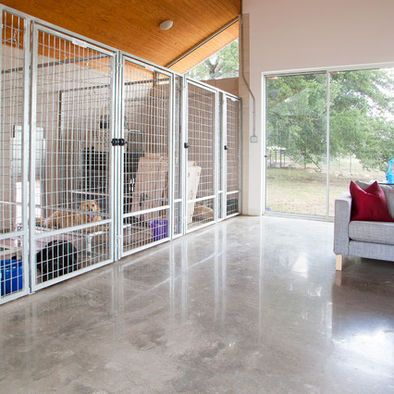 379 best images about dog design for the home on pinterest for Boarding kennel designs