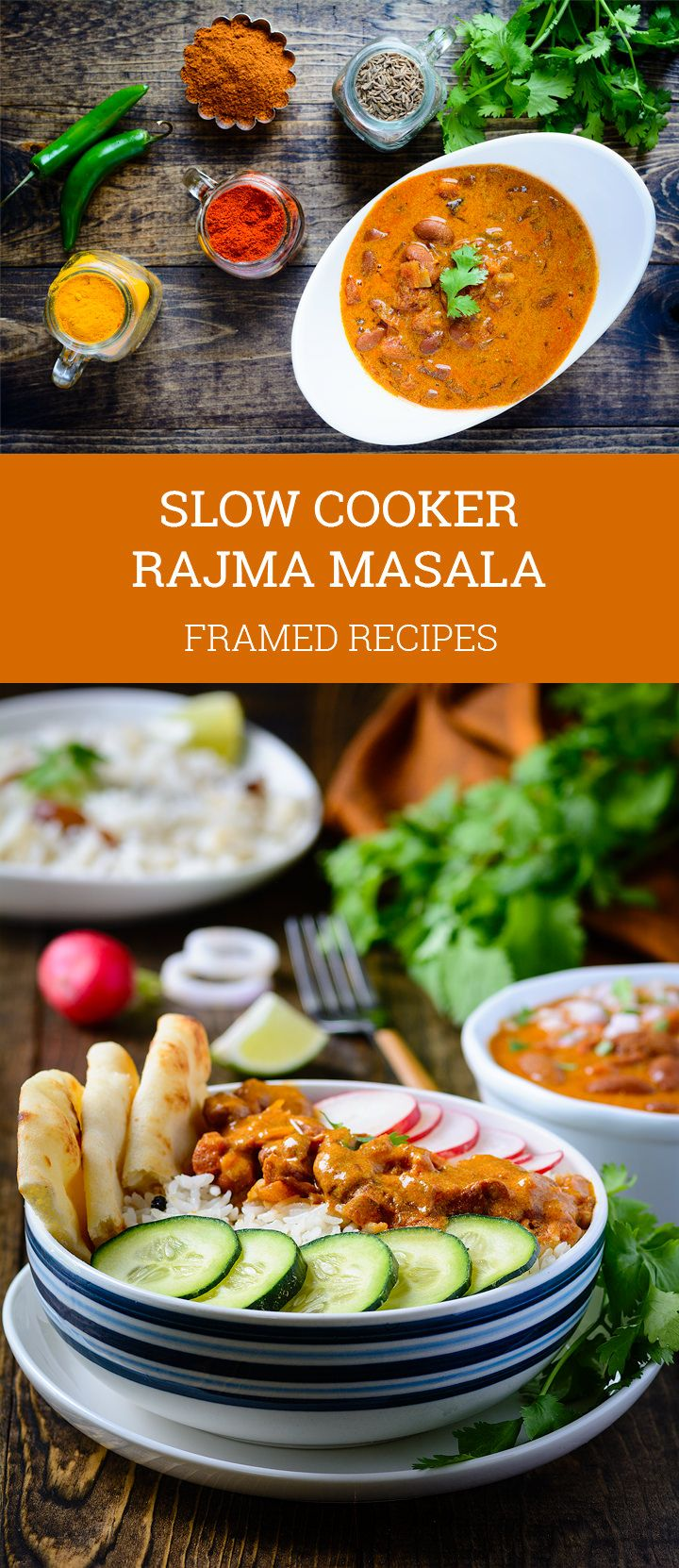This is the lazy person's dump-it-all-and-forget-it kind of slow cooker rajma masala bowl. But this is the richest, most flavorsome and creamiest rajma masala (Indian style beans and rice bowl) you would have ever tasted.