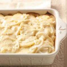 Scalloped Potatoes are the perfect excuse to go buy a new casserole dish :) #Potluck