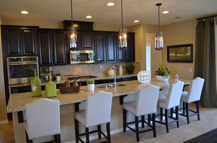 Lennar Home Espresso Kitchen Cabinets Pendent Lighting Make A House A Home Pinterest Hanging Lights Espresso Kitchen And Home