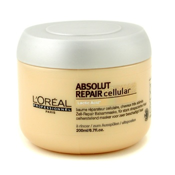 Loreal Absolut Repair Cellular Masque. Great for bleached,highlighted , or damaged hair. Lots of protein!