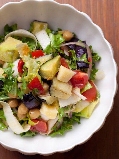 Recipe : Kamonasu(Eggplant), Red Onion, and Tomato Salad/賀茂なすの夏サラダ