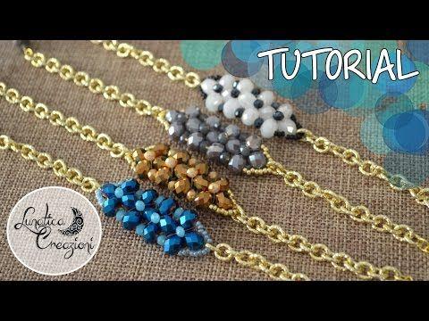 Tutorial Perline per Principianti: Bracciale con fascia di cipollotti e perline | DIY Beads Bracelet - YouTube