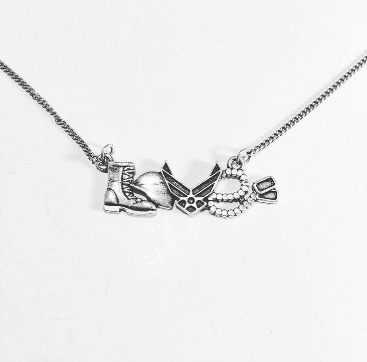 US Air force Love Necklace - US Military Jewelry