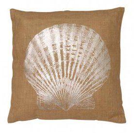 Seashell Jute Throw Pillow