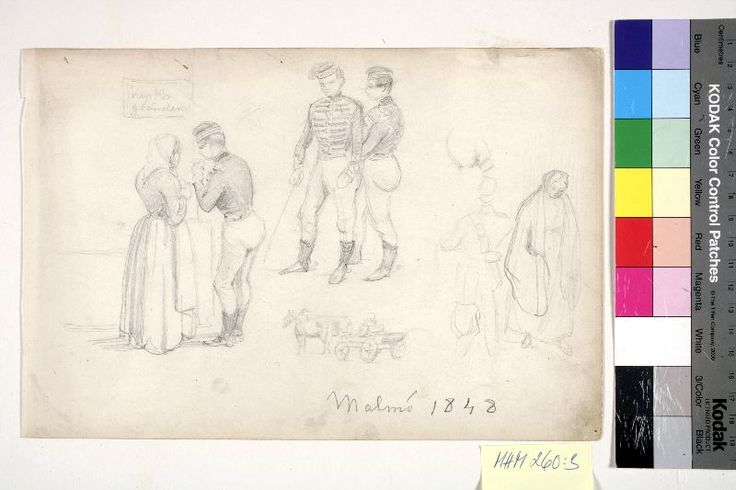 """Malmö 1848"" by Fritz von Dardel, Swedish. Malmö Museer, nr. MHM 000260:003"