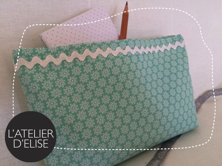 Pochette coton pour Ana. Fresh thinking time !