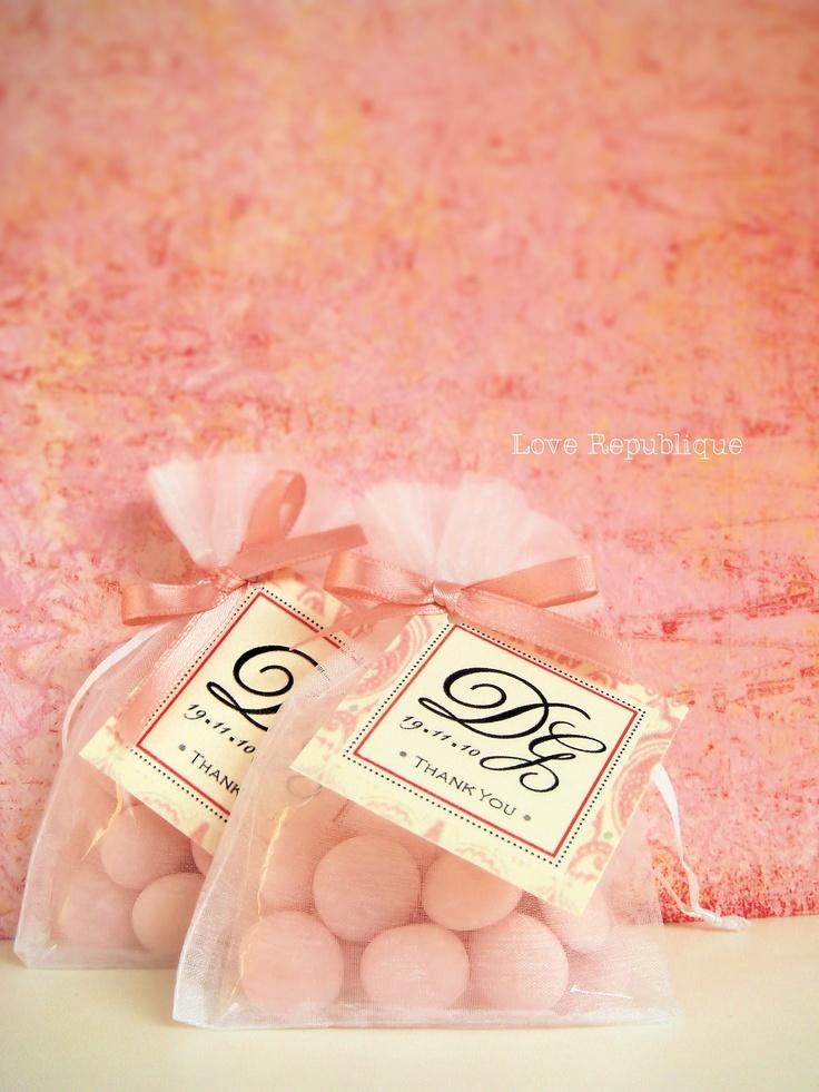 #wedding #pink #souvenir