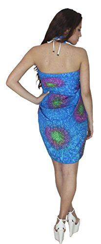 """Coverup Dress Swimsuit Swimwear Pareo Beachwear Sarong Bathing Suit Dark Blue. Do YOU want SARONG in other colors Like Red ; Pink ; Orange ; Violet ; Purple ; Yellow ; Green ; Turquoise ; Blue ; Teal ; Black ; Grey ; White ; Maroon ; Brown ; Mustard ; Navy ,Please click on BRAND NAME LA LEELA above TITLE OR Search for �LA LEELA� in Search Bar of Amazon. Wrap Around ; LENGTH ; 72"""" [183 cms] ; WIDTH ; 42"""" [106 cms]. SOFT Sarong with PLENTY OF Wrap Around MATERIAL (Provides you good coverage or…"""