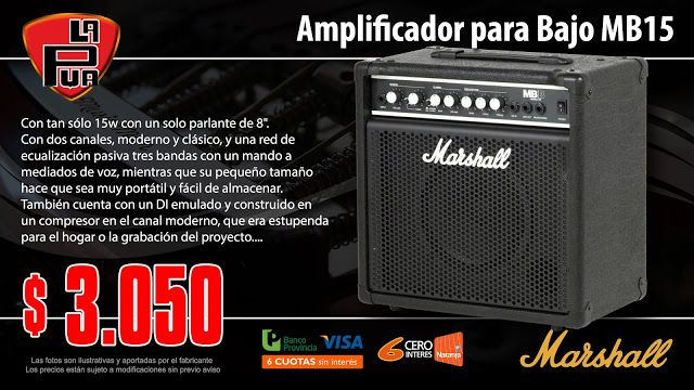 La Púa San Miguel: Amplificador para Bajo MARSHALL MB15 con Compresor...