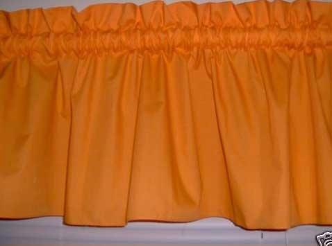 Fresh orange kitchen curtains