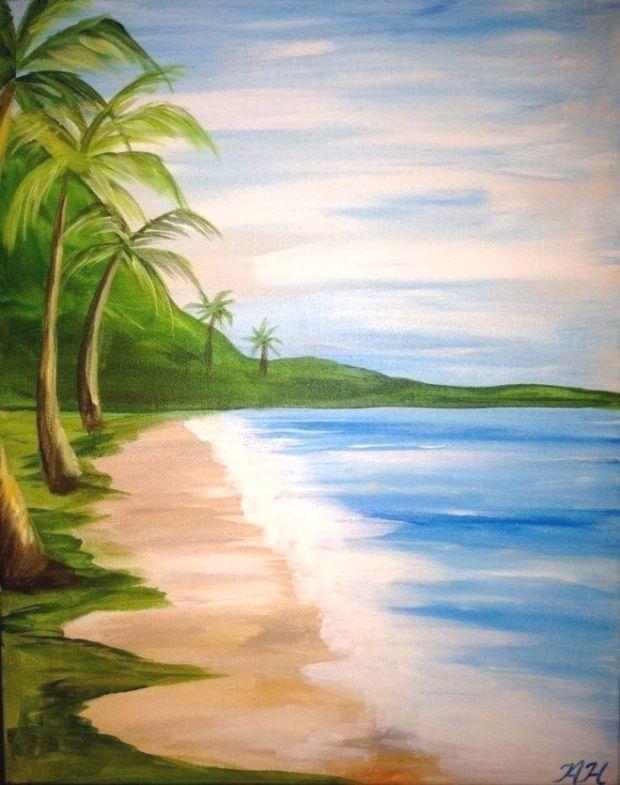 Anfanger Lernen Acryl Zu Malen Aurora Borealis Landschaft Die Kunste Einfachesmalen Tk Ein Summer Painting Beginner Painting Simple Acrylic Paintings