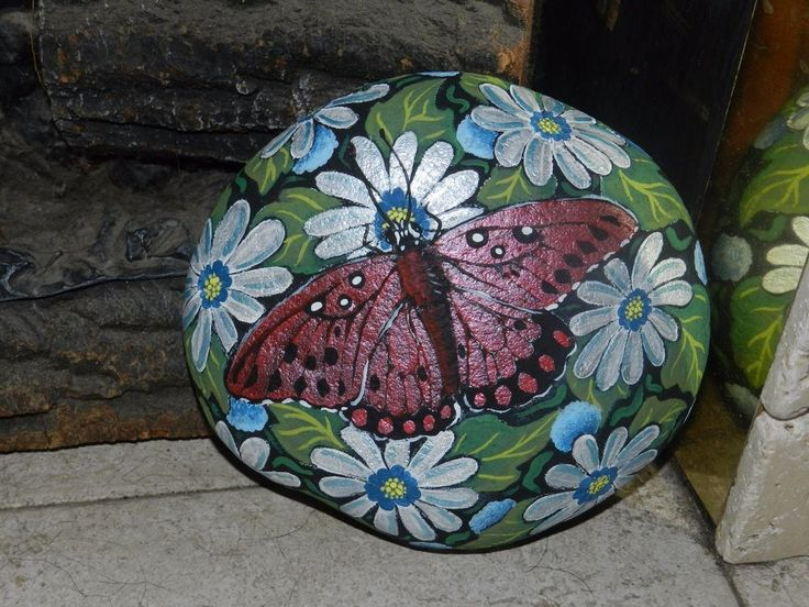 Pictures Of Flowers Painted On Rocks
