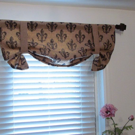Valance W Burlap Ties And: 17 Best Ideas About Tie Up Curtains On Pinterest