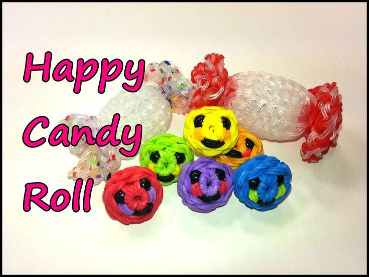 3-D Happy Candy Roll Tutorial by feelinspiffy (Rainbow Loom) Copyright© 2014@craftingfantastic