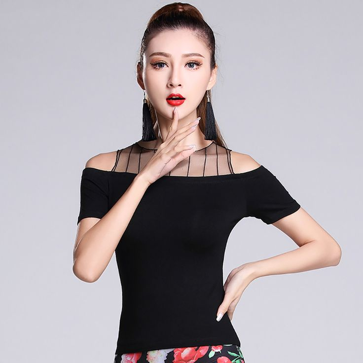 >> Click to Buy << 2017 Hot Sale Ladies Latin Dancing Top Modal Sexy Hollow-Out Shirt Adult Salsa Ballroom Paso Doble Cow Boy Dancer Blouse MD7219 #Affiliate