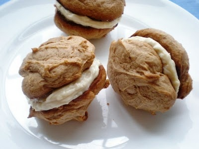 Spice Cookie Sandwiches with Honey Pecan Cream Cheese Frosting