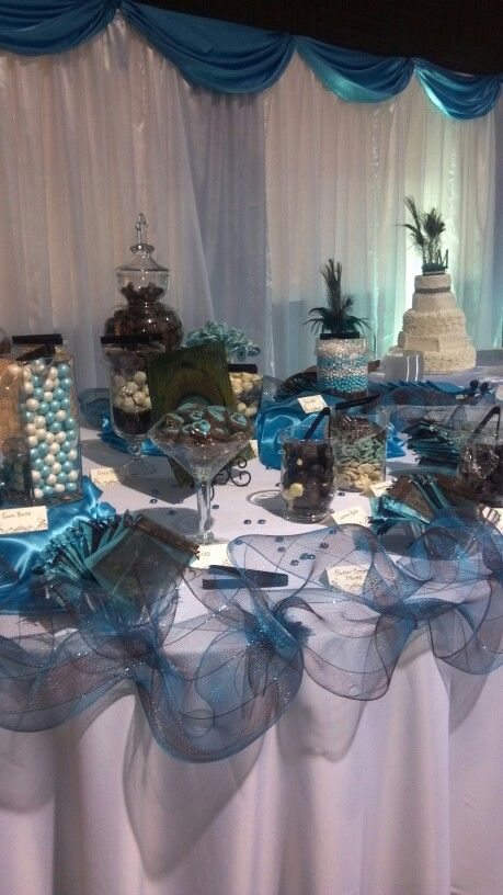 this wedding candy buffet captures the magic of color see more wedding candy favors and