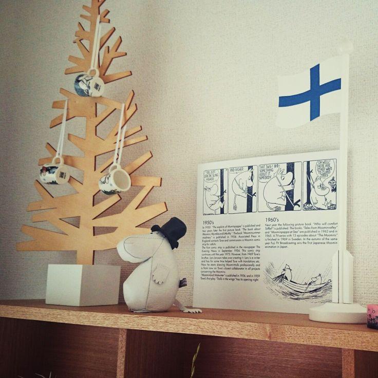 chicoさんの、北欧雑貨,ムーミン,フィンランド,北欧,アラビア,賃貸,ARABIA,ラッセントレー,無印良品,リビング,のお部屋写真