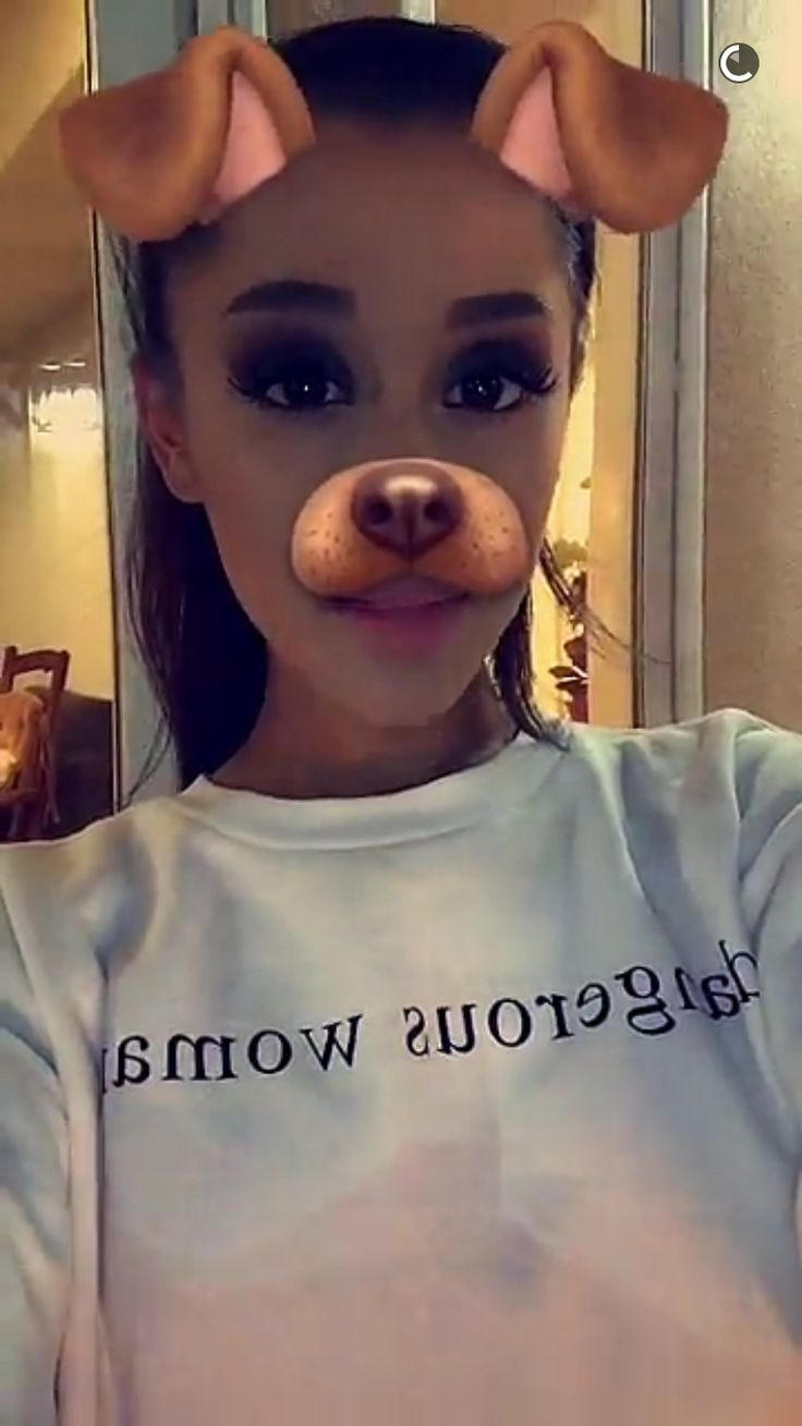 ♡ On Pinterest @ kitkatlovekesha ♡ ♡ Pin: Snapchat ~ Ariana Grande Dog Filter ♡