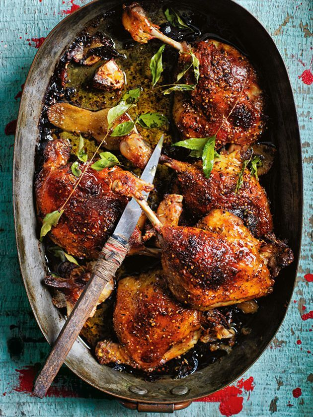 Donna Hay's Crispy Spiced Duck. add onion and carrots for a one-pot dish.