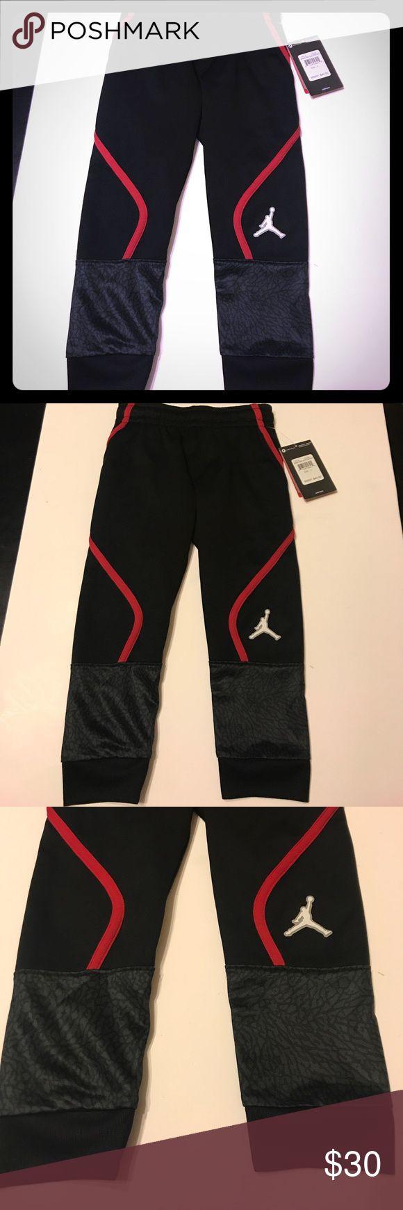Kids Jordan Sweats New with tags, size 4, 100% polyester, side pockets Jordan Bottoms Sweatpants & Joggers