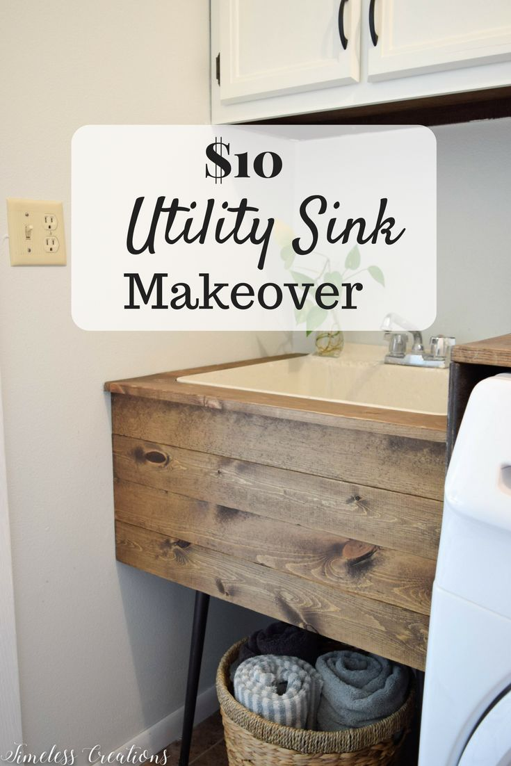 DIY Utility Sink Makeover – Timeless Creations, LLC