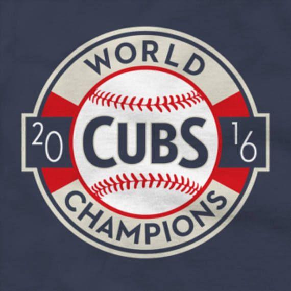 Chicago Cubs Shirt 2016 World Series Champions Logo Navy Blue